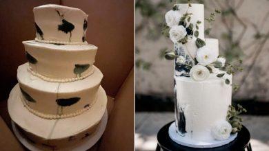 """صورة كعكة زفاف """"باكية"""" تنتشر على مواقع التواصل.. شاهد رد فعل العروستين"""