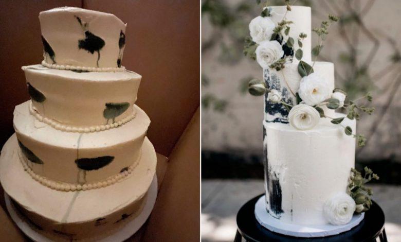 """كعكة-زفاف-""""باكية""""-تنتشر-على-مواقع-التواصل.-شاهد-رد-فعل-العروستين"""