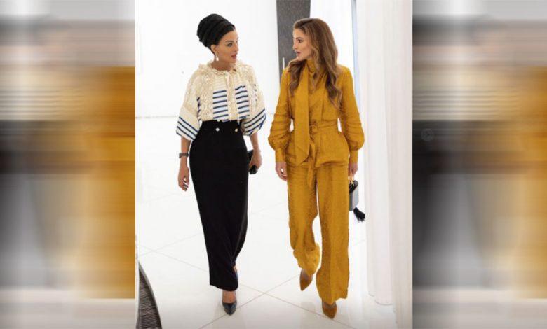 بالصور.-والدة-أمير-قطر-الشيخة-موزا-تستقبل-الملكة-رانيا-بالدوحة