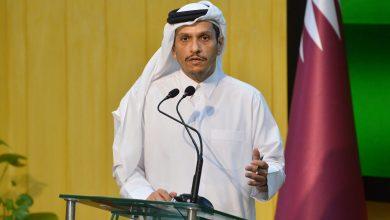 """صورة وزير خارجية قطر يعلق على """"الزخم الإيجابي"""" بين السعودية وإيران.. ويوضح علاقة الدوحة بطالبان"""
