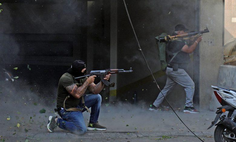 """اشتباكات-بيروت:-حزب-الله-وحركة-أمل-يتهمان-""""القوات-اللبنانية""""-ببدء-إطلاق-النار.-وسمير-جعجع-يعلق"""