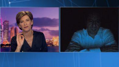 صورة لحظة انقطاع الكهرباء خلال لقاء سامي الجميّل في بث مباشر مع CNN تزامنًا مع سؤاله عن مستقبل لبنان