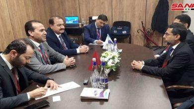 صورة سانا: وزير الطاقة الاماراتي ووزير النفط السوري يبحثان أوجه التعاون