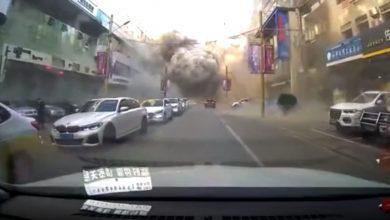 صورة كاميرا توثق لحظة وقوع انفجار هائل في الصين