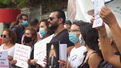 صورة هتافات لبنانية دعمًا للقاضي بيطار.. ومطالبات بالعدالة في تحقيق انفجار مرفأ بيروت