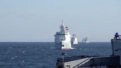 صورة لأول مرة.. دورية روسية وصينية مشتركة عبر مضيق تسوغارو غرب المحيط الهادئ