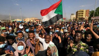 """صورة خريطة توضح مجريات أحداث """"الانقلاب العسكري"""" في السودان"""
